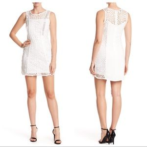bebe Lace Crew Neck Dress